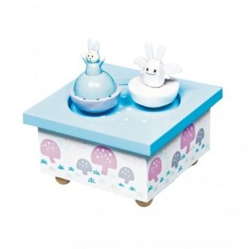 trousselier-boite-a-musique-ange-et-lapin-bleu